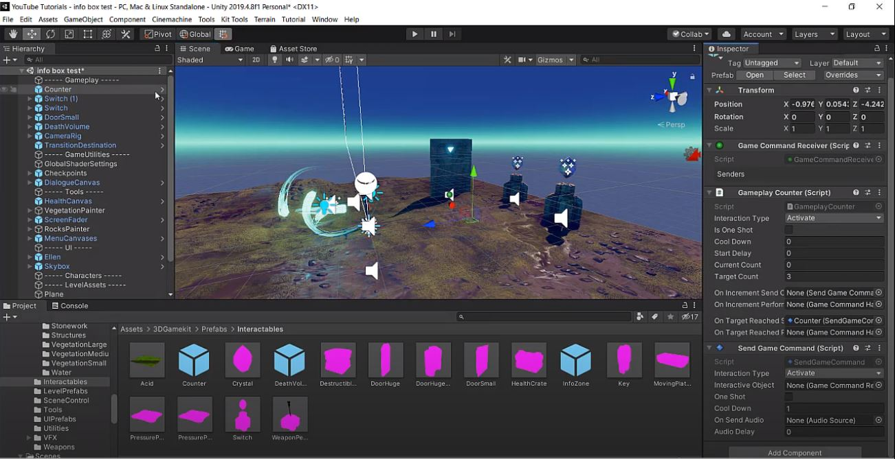 counters in unity 3d game kit