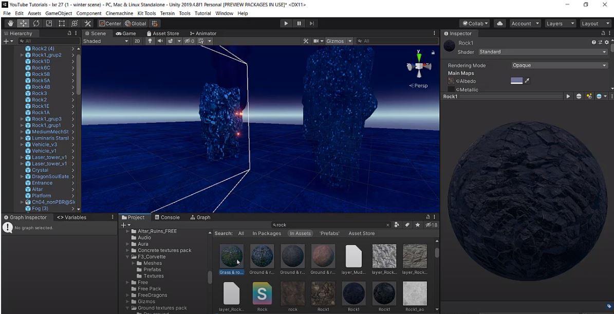 game environment design - materials